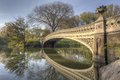 Bow Bridge In Spring Central Park Royalty Free Stock Photos - 24457898