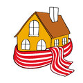 House Wrapped In A Scarf Royalty Free Stock Image - 24464826
