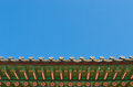 Ancient Korean Style Roof Decorative Ornament Royalty Free Stock Photography - 24469207