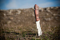 Knife In The Ground Stock Image - 24476951