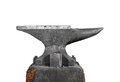 Old Blacksmith Anvil Isolated Stock Photography - 24480462