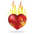 Heart In Fire Stock Images - 24481924