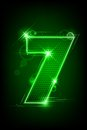 Glowing Number Seven Royalty Free Stock Photography - 24482467