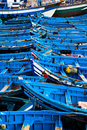 Blue Fishing Boats Stock Photography - 2453962