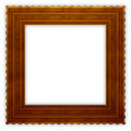 Square Wavy Wooden Frame Royalty Free Stock Images - 2459409