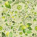 Seamless Green Floral Pattern Royalty Free Stock Images - 24512349
