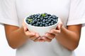 Crockery With Blueberries. Royalty Free Stock Photo - 24512775