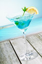 Refreshing Curacao Martini Cocktail Stock Images - 24517234