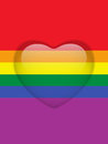 Heart Glass Buttons Gay Flag Royalty Free Stock Image - 24519356