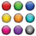 Vector Set Of Round Glass Buttons Stock Photography - 24519892
