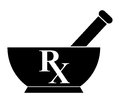Mortar And Pestle Royalty Free Stock Image - 24526756