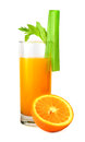 Orange Juice And Celery Royalty Free Stock Photography - 24533107