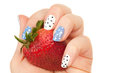 Strawberry In A Woman Hand With  Manicure Royalty Free Stock Image - 24541276