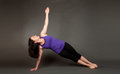 Fit Woman Doing Yoga Royalty Free Stock Images - 24543909