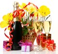 Wine And Flowers Royalty Free Stock Photography - 24551407