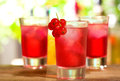 Red Cocktails Stock Photos - 24551873
