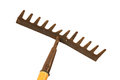 Old And Rusty Garden Rake Stock Photography - 24564202
