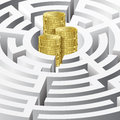 Money In The Maze Royalty Free Stock Photo - 24592525