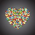 Medical Pill Forming Heart Stock Images - 24596074