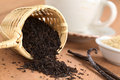 Black Tea In Infuser With Vanilla Royalty Free Stock Images - 24598859