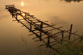 Wooden Broken Bridge Stock Images - 24609624