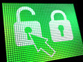 Unlocked Padlock Computer Screen Stock Images - 24615184