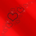 Red And Silver Hearts Background Royalty Free Stock Photo - 24615365