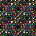 Colorful Stars Seamless Pattern_eps Royalty Free Stock Image - 24616076