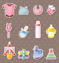 Baby Stuff Stickers Royalty Free Stock Photos - 24617228