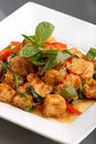 Thai Food Tofu Stir Fry Royalty Free Stock Photo - 24627435