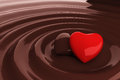 Chocolate Heart In Hot Chocolate Royalty Free Stock Images - 24629999