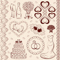 Vector Clipart Wedding, Wedding Decorations Royalty Free Stock Photography - 24635247
