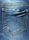 Blue Jeans Pocket Stock Images - 24647894