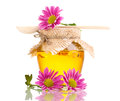 Sweet Honey In Jar With Drizzler Royalty Free Stock Photos - 24648628