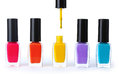Group Of Bright Nail Polishes Royalty Free Stock Photography - 24648877