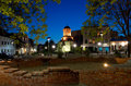 Bucharest By Night - Old Court Church And Plaza Royalty Free Stock Photography - 24657987