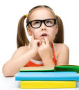 Cute Little Girl Is Dreaming Stock Photography - 24661572