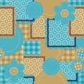 Seamless Patchwork Background Royalty Free Stock Photos - 24666258