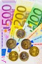A Fan Of Euro Banknotes Stock Images - 24667194