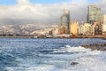 Beirut On The Mediterranean Royalty Free Stock Photography - 24682137