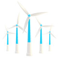 Symbolic Wind Power Stations Isolated Royalty Free Stock Photos - 24684038