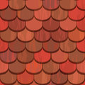 Seamless Red Clay Roof Tiles Stock Photo - 24686420