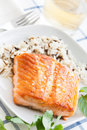 Grilled Salmon Royalty Free Stock Images - 24692839