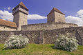 Calnic Medieval Fortress In Transylvania Romania Stock Images - 24693194