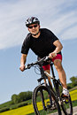 Cycling Man Royalty Free Stock Images - 24696699