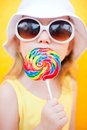 Girl With Lollipop Royalty Free Stock Photography - 24722947
