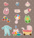 Baby Stuff Stickers Royalty Free Stock Image - 24724296