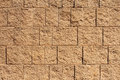 Brown Block Wall For Backgrounds Or Textures Stock Images - 24729004