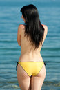 Topless Brunette At The Sea Royalty Free Stock Photography - 24747567