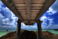 Wooden Bridge And Sea Royalty Free Stock Photo - 24748005